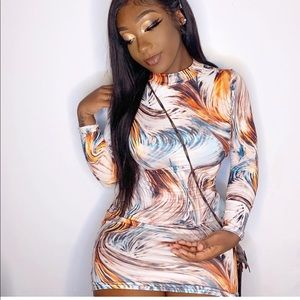 Fashion nova multi colored dress